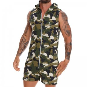 Jor ADVENTURE Camo Romper Jumpsuit Green 1059
