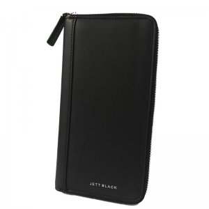 Jett Black Travel Wallet Black