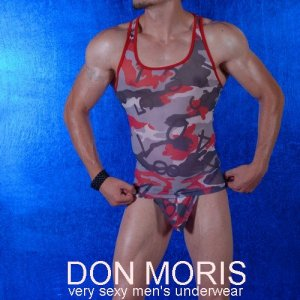 Don Moris Camouflage Tank Top T Shirt DM080830