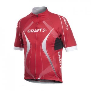 Craft Performance Bike Tour Short Sleeved T Shirt Bright Red 1900015