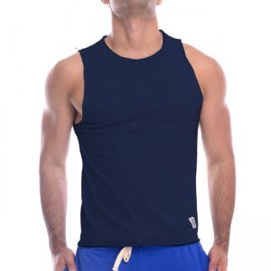 Private Structure Athlete Muscle Top T Shirt Navy 99-MT-1665