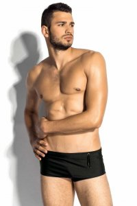 m8mate Brazil Square Cut Trunk Swimwear Black