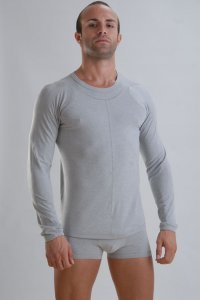 Geronimo Long Sleeved T Shirt Grey Bamboo 959T8
