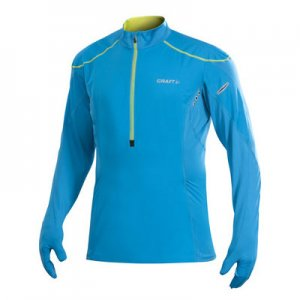Craft Elite Run Wind Long Sleeved Sweater Blue/Yellow 1901316