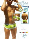 Icker Sea Curved Hemline U Shorts Square Cut Trunk Swimwear COB-12-127M