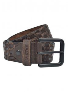 Spazio Checker Belt Brown 3559