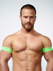 Mister B Urban Club Biceps Bands Neon Green 820505