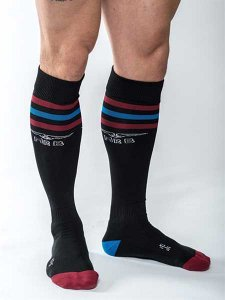 Mister B Urban Gym Pocket Socks Black/Red/Blue 820180