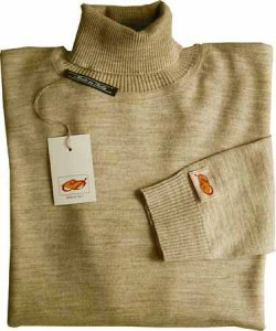 Elle Creazioni Turtle Neck Underjacket Sweater Sand