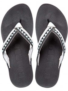 Boombuz Taiga Half Dressed Flip Flop Slippers Black/Grey