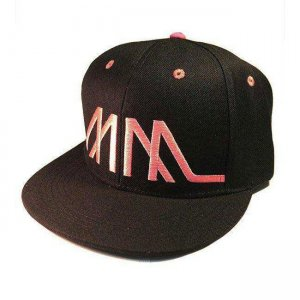 Marco Marco Embroidered MM Snapback Hat Pink