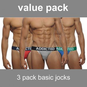 Addicted [3 Pack] Basic Jock Strap Underwear AD363P