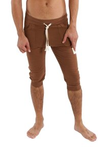 4-rth Edge Cuffed Yoga 3/4 Pants Chocolate