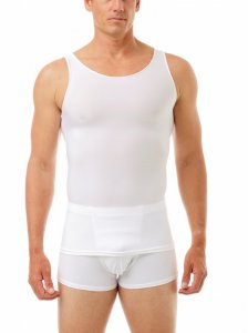 Underworks Shapewear Microfiber Compression Tank Top T Shirt White 473100