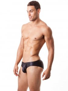 N2N Bodywear Liquid Skin Sport Brief Underwear Black B2