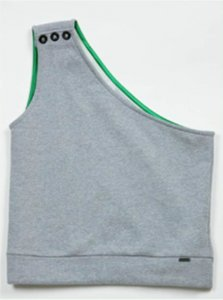 Sopopular Jakob Pull Under Part 1 One Strap Tank Top T Shirt Grey 206-10-11-125