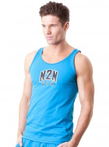 N2N Bodywear Basic Gym Tank Top T Shirt Turquoise BG3
