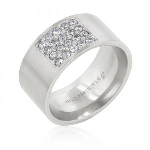 J. Goodin Stainless Steel Pav CZ Ring STR0126VN-C01