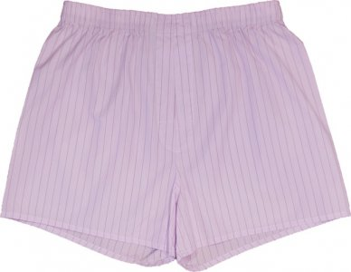 Charlie Dog The Bo Stripes Loose Boxer Shorts Underwear Pink 312-952