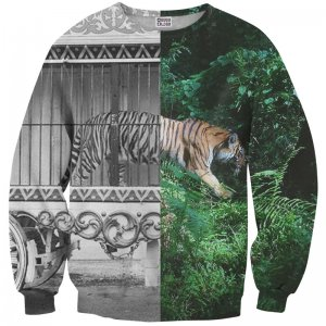 Mr. Gugu & Miss Go Tiger Cage Unisex Sweater S-PC650