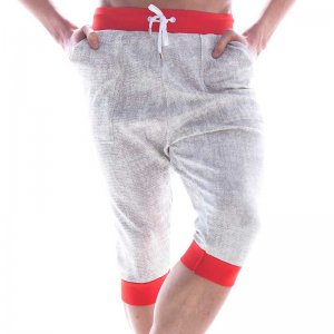 MIIW Scandinavia Three Quarter Gym Pants Ivory/Red 4711-10