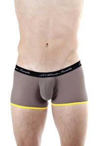 L'Homme Invisible Voile Hipster Push Up Boxer Brief Underwear Grey MY39B-YIN-014