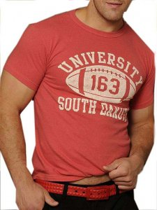 Good Boy Gone Bad University South Dakota Short Sleeved T Shirt Red