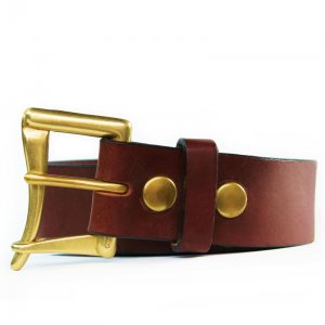 American Bench Craft The Fire Chief Service Leather Belt