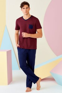 Doreanse Pocket V Neck Short Sleeved T Shirt & Pants Set Lou...
