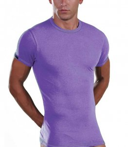 Lord Elastic Short Sleeved T Shirt Lavender 8168