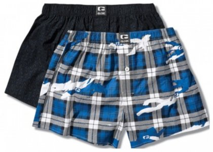 [2 Pack] Globe Janick Woven Boxer Brief Underwear Assorted