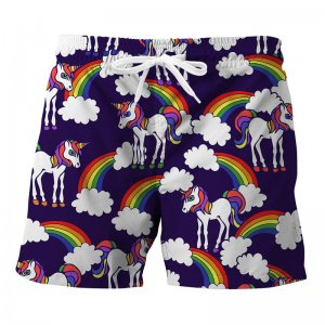 Mr. Gugu & Miss Go Rainbow Unicorns Trunks Swimwear ST834