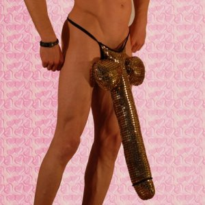 Don Moris Fantasy Novelty Super Endowed Metallic G String Underwear DM030944