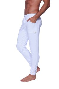 4-rth Long Cuffed Perfection Yoga Pants White