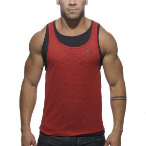 ES Collection SuperPosed Low Rider Tank Top T Shirt Red TS123