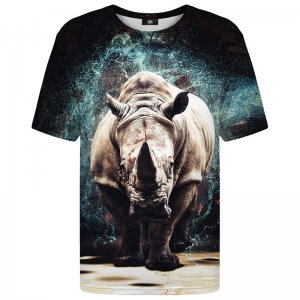 Mr. Gugu & Miss Go Rhino Unisex Short Sleeved T Shirt TSH1185