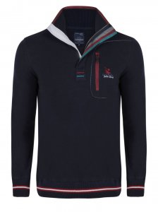 Giorgio Di Mare Jersey Long Sleeved Sweater Navy GI3295520