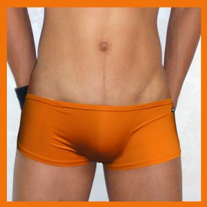 Groovin Super Extra Low Rise Boxer Underwear Orange