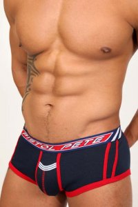Pistol Pete Racer Open Back Trunk Underwear Navy UT426-671
