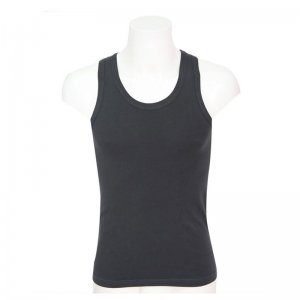 Minerva Sporties Basic Vest Muscle Top T Shirt Charcoal 10140