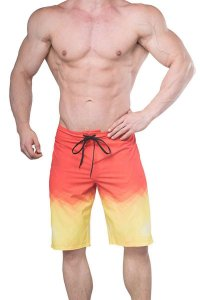 Jed North Physique Posing Boardshorts Beachwear Fire Red