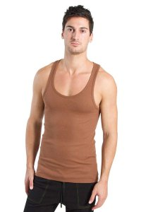 4-rth Racer Back Yoga Tank Top T Shirt Chocolate
