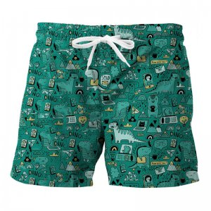 Mr. Gugu & Miss Go Dino Tech Trunks Swimwear ST839