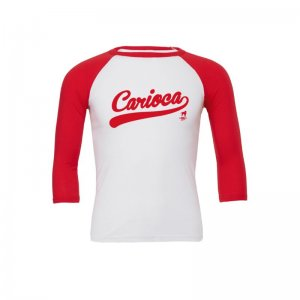 CA-RIO-CA Vintage Raglan Long Sleeved T Shirt Red/White R392...
