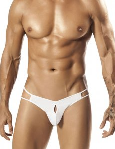 PPU Palmetto Keyhole Strappy Thong Underwear White 1551
