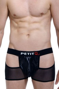 Petit-Q Valousa Cut Out Mesh Boxer Brief Underwear Black PQ171001