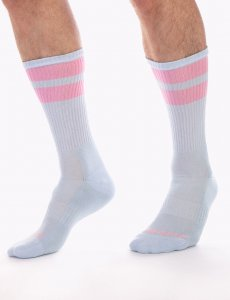 Barcode Berlin [3 Pack] Gym Socks Sky/Rose 91366-490