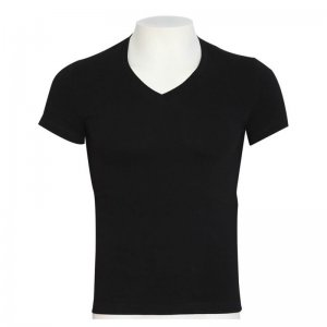 Minerva Sporties Basic Vest V Neck Ultimate Muscle Top T Shirt Black 10460