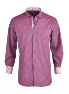 Spazio Riordan Long Sleeved Shirt Red 24-3152
