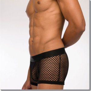 Modus Vivendi C-Through Boxer Brief Underwear Black 07721